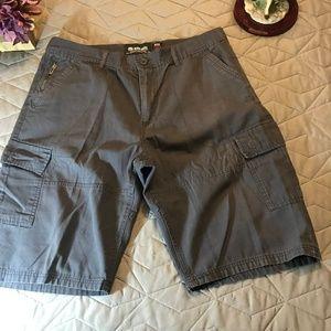 ecko unltd. Men's 36 gray cargo shorts